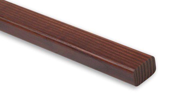 Holzhandlauf Thermoesche Rechteckholz lackiert.