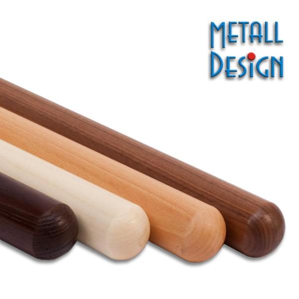 Handlauf Holz Endenbearbeitung Kugelform.