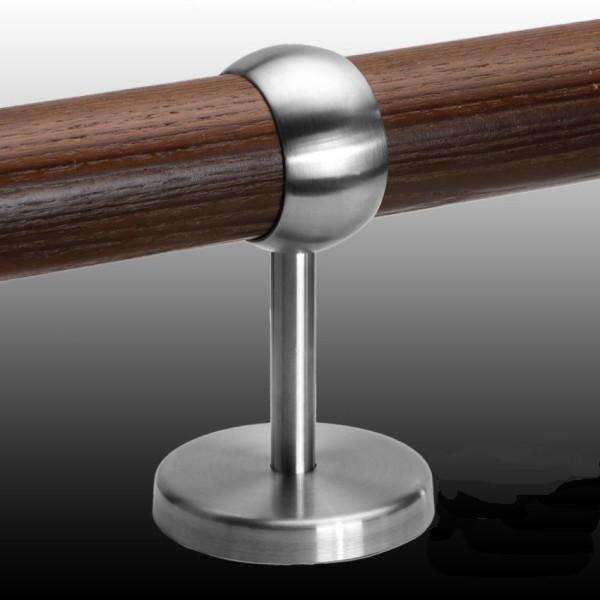 Handlauf Holz Edelstahl Handlaufhalter Kugelring HLH