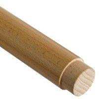 Handlauf Holz Zapfenfräsung für Handlauf Holz Edelstahl.