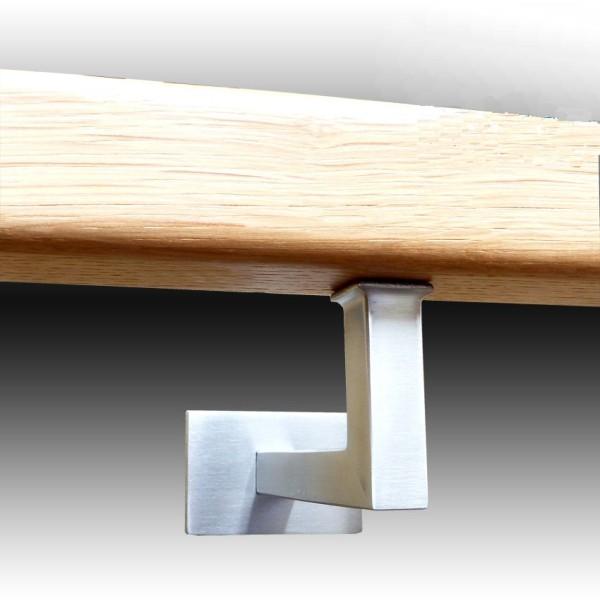 Handlaufhalter Edelstahl für den Handlauf Holz, Handlauf Edelstahl und Geländer.