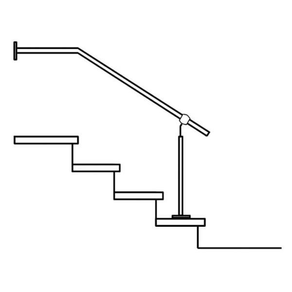 Handlaufgeländer Treppengeländer Edelstahl