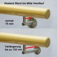 Handlauf Holz Verlängerung Handlaufhalter Holzhandlauf.