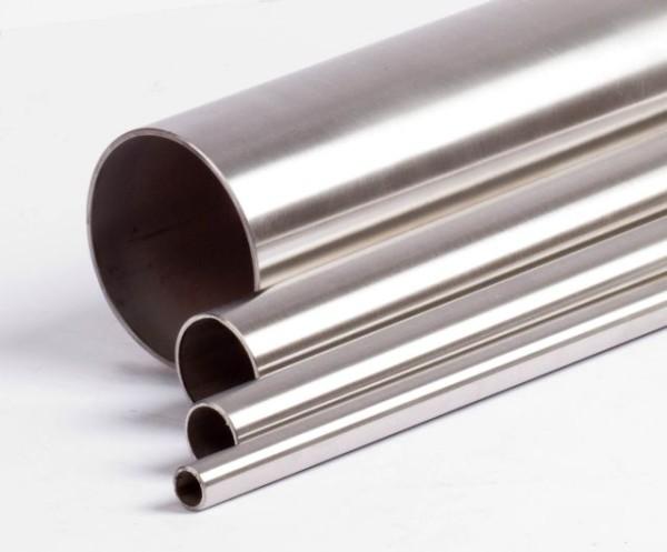 Handlaufrohr Edelstahl 33,7 x 2,0 mm, V2A, geschliffen, Länge auf Maß.